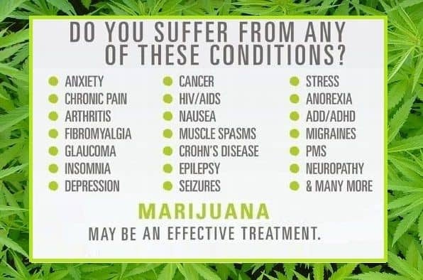 Six Common Diseases Treated with Medical Marijuana