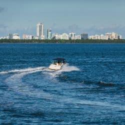 boat on miami shore